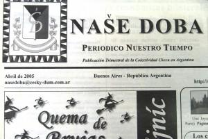 Naše doba. Periodico Nuestro Tiempo. Buenos Aires, 2005