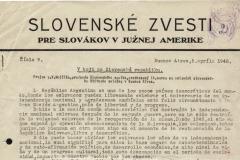Slovenske zvesti pro Slovakov v Južnem Amerike_0
