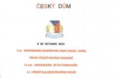 Pozvánka na 11. výročí založení Českého domu_8.říjen_2012