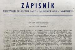 Zápisník Slovenskej Národnej Rady v Zahraničí, Odbor v Argentíne